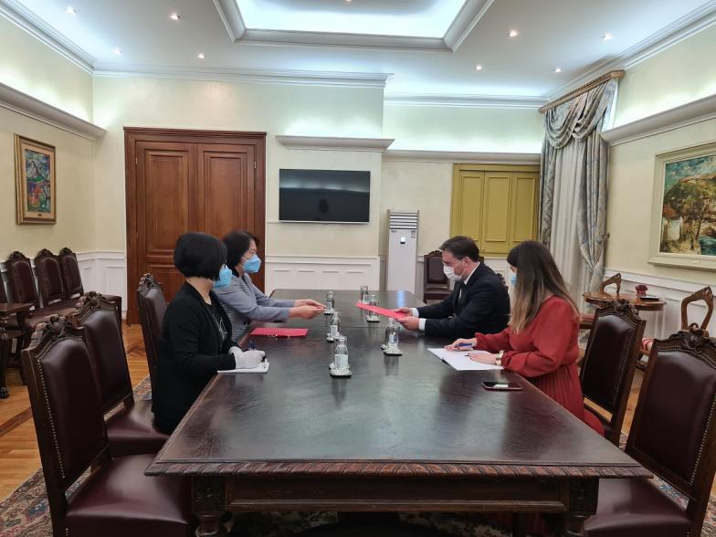 Minister Selakovic met with Ambassador Chen Bo