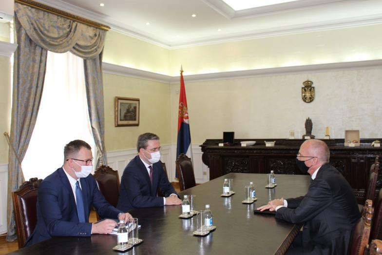 Minister Selakovic in talks with the Ambassador of the Federal Republic of Germany