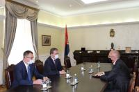 Navigate to Minister Selakovic in talks with the Ambassador of the Federal Republic of Germany