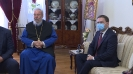Министар Селаковић са кипарским архиепископом Хризостомом Другим [12.12.2020.]