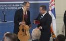Лавров поклонио Дачићу микрофон, а од Дачића добио гитару [18.06.2020.]